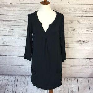 Soft surroundings V-neck longsleeve black tunic M